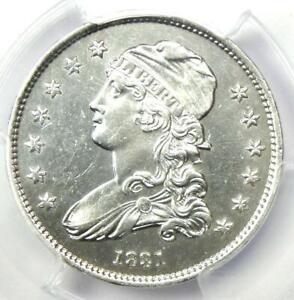 1831 Capped Bust Quarter 25C - PCGS AU Details - Rare Early Coin - Near MS / UNC
