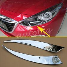 Head Light Trim For Mazda3 BM 2014-2016 Chrome Headlight Strips Cover Accessory