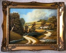 J Heathcote Hunt Oil Painting On Canvas Washgate Upper Dove Derbyshire Scene