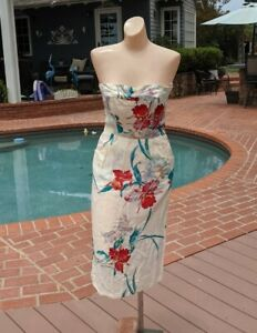 Vintage 1970s Sherry Holt Hawaiian Rayon Dress Tiki Oasis