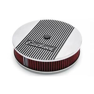 Edelbrock 4266 Elite Series Aluminum Air Cleaner, Round, 14 Inch