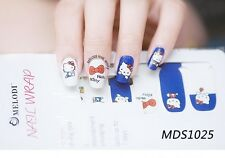 16x Kawaii Kitty Cat  Nail Wrap Patch Glossy Self-adhesive Stickers MDS1025
