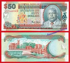 BARBADOS 50 Dollars dolares 2000 Pick 64 SC / UNC