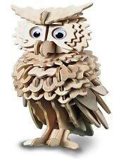 OWL Woodcraft Construction Kit - New Bird Wooden 3D Model Puzzle KIDS/ADULTS