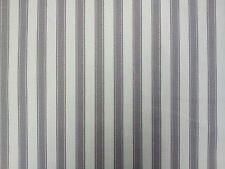Ticking Stripe 100% COTTON FABRIC Designer Curtain Upholstery Craft Fabric