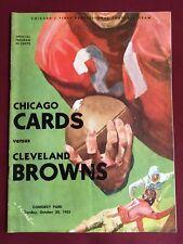 Cleve. Browns @ Cardinals NFL Program  BROWNS 10/30/1955
