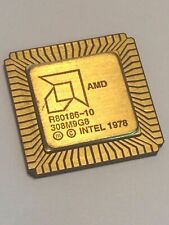 AMD R80186-10 FLAT PACK GOLD CERAMIC CHIP COLLECTABLE VINTAGE PROCESSOR fba10a58