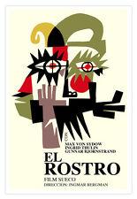 Cuban movie Poster for Swidish film El ROSTRO.The Face.Wild Mask.Home Decor Art