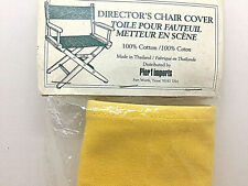 Pier 1 Imports Directors Chair Cover Bright Yellow Cotton Seat Replacement