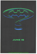 BATMAN FOREVER MOVIE POSTER 1 SIDED ORIGINAL N. MINT ! 27x40 RARE SYMBOL ADVANCE