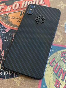 Genuine Golden Concept iPhone X 256GB Global GSM Carbon Fiber Luxury Phone RARE