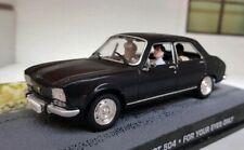 1:43 0 O Scale Diecast Model Car Black Peugeot 504 Saloon 1969 Oxford Atlas Type