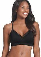 Jockey 237734 Womens Sport Medium-Impact Sports Bra Solid Black Size Small