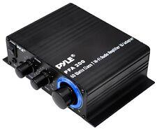 NEW Pyle PFA200 60W Class T Hi-Fi Audio Amplifier W/ MP3/iPod Input & Adapter