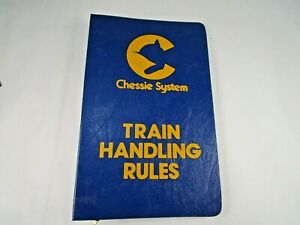 Vintage Original 1980 Chessie System Train Handling Rules Manual Notebook