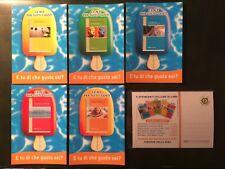 Serie CORRIERE DELLA SERA LIBRI  5 Cartoline Promocard n. 5593/5597 Card
