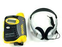 Sony Sports WM-FS593 Walkman Cassette Player Radio w/ KOSS KPH/6 Headphones