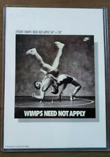 """Vintage/Original Nike Poster Card  - Wimps Need Not Apply - 5"""" x 7"""" - 1990/1991"""
