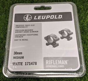Leupold Rifleman Detachable 30mm Scope Rings Medium, Matte Black - 171478