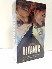 TITANIC 1997 VHS Two Cassette Movie WINNER OF 11 ACADEMY AWARDS New In Package