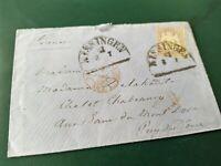 Bayern Kreuzer-Brief 12 Kr. (18) 1870 von Kissingen nach Frankreich