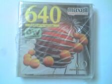 "MAXELL REWRITABLE 3.5"" 640Mb MAGNETO-OPTICAL MO DISK & Jewel Case- SEALED NOS..."