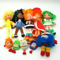 "10 pieces Vintage 1983 Rainbow Brite 12"" Dolls w/ Sprites Champ Violet Red Green"