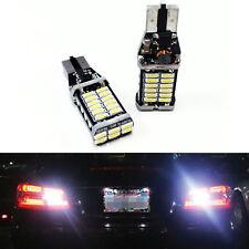 2pc Super White 921 LED Back Up bulbs 15-SMD 5630 CanBus Reverse T15 Wedge Light