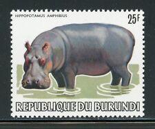 BURUNDI MNH Wildlife FAUNA Selections: Scott #594 25Fr Hippopotamus CV$15+