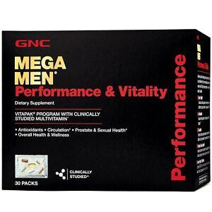 GNC Mega Men Performance & Vitality Vitapak 30 Packs 30-Day supply Exp 12/21