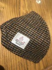 "Quality Brown Herringbone ""Harris Tweed"" Pure silk lined Face Cover/mask Adult"