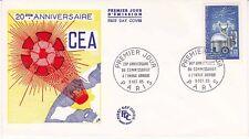 Enveloppe 1er jour FDC 1965 - CEA - Commissariat de l'énergie atomique