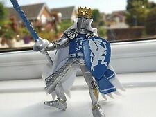 PAPO 39387 BLUE DRAGON KING with LANCE 2006 Medieval Era Action Figure