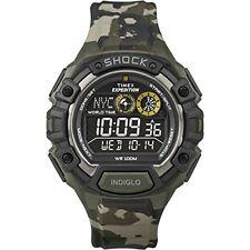 Timex Hombres Expedición Global Shock NEGATIVO Expositor CAMO Reloj t49971