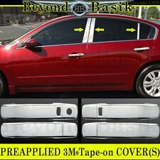 Fits 2007-2012 Nissan Altima Chrome Door Handle COVERS WSK+6P Pillar Posts trims