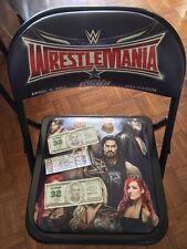 Wrestlemania 32 Ringside Folding Chair w/ Ticket and Shane O'Mac Dollars