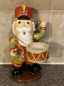 Yankee Candle Nutcracker Playing Drum Tea light Candle Christmas Porcelain