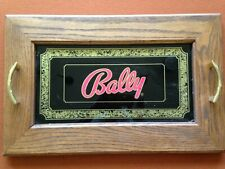 Rare Vintage BALLY Slot Machine Glass -- In oak tray, or Just the glass. 1970s