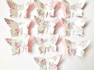 Floral Butterfly Papercraft Embellishments Butterflies Scrapbooking Card Crafts