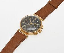 Orfina Prestige Watch Int. 18k gold mechanical Lemania 1873 chronograph new