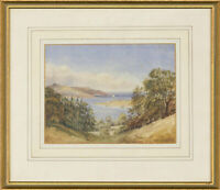 Miss Drury - Framed 1830 Watercolour, The Devonshire Coast