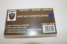 """SHIELD 250 Crystal Sleeves for #6 Envelope, Cover, FDC 4"""" x 7""""  Free Shipping.."""