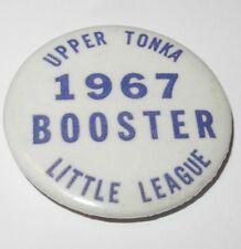 1967 Baseball Pin Coin Button Upper Tonka Minnesota Little League Pinback