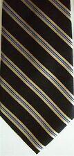 "U.S. Polo Assn. Men's Striped Black Base & Light Gold/Blue 3 1/2"" x 58 1/2"""