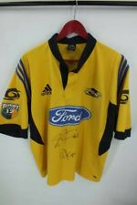 Adidas Hurricanes rugby jersey with autographs XL