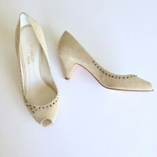 Limited Edition 60 Te Casan NY by Fay B womens Open Toe Suede Pumps Sz 7.5