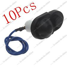 10X Universal Car Door Switch With Wire Rubber Gasket Boot Bonnet Alarm Light