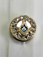 Freemasons Masonic Shirt Button Covers GOLD with SC&G Set of 5 button covers