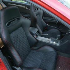 Faux Leather Racing Seats Sport Seats Reclinable Bucket Universal Black 2pcs Fits Toyota Celica