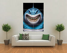 CRONULLA SHARKS INSPIRED RUGBY NRL MASCOT GIANT WALL ART POSTER PRINT